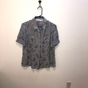 Akris Punto Silk Gingham Blouse